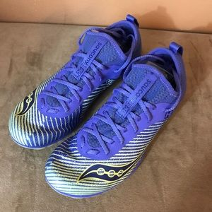 Saucony Havok XC running shoes violet blue size 8